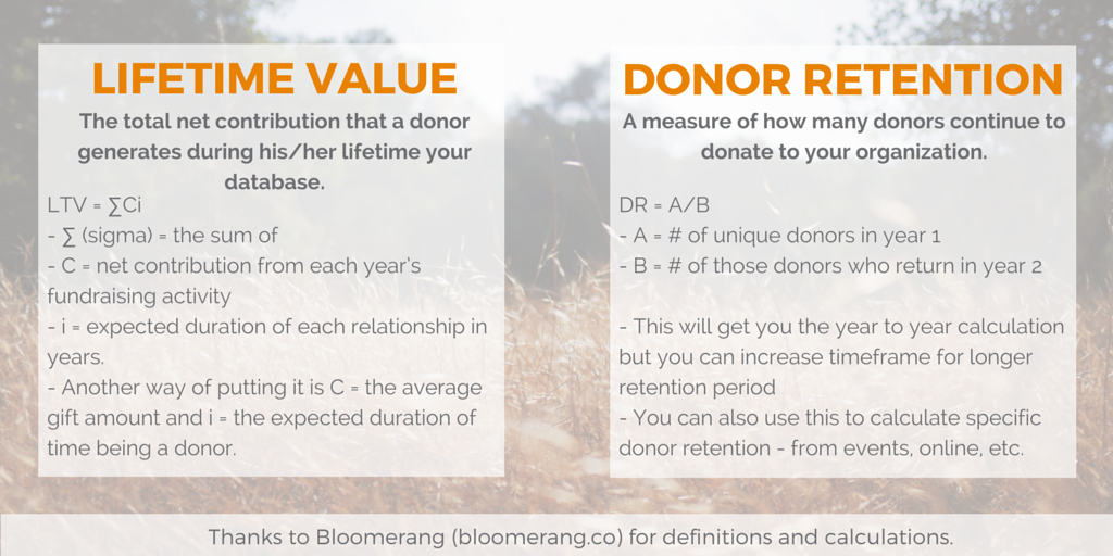 Donor Retention and Lifetime Value
