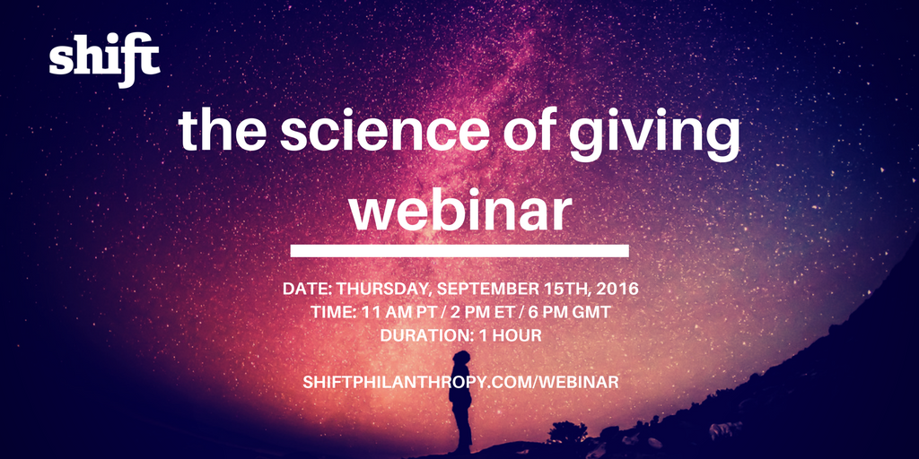the scienceof giving webinar