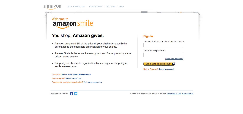 AmazonSmile example
