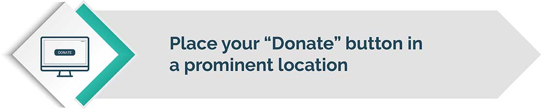 Placing your donation button in a prominent location is a great web design tip.