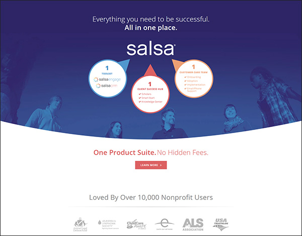 Salsa's online donation tool and software can help your nonprofit out in a pinch!