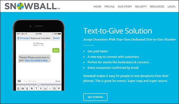 Snowball can help your nonprofit with its online donation tools and software platform.