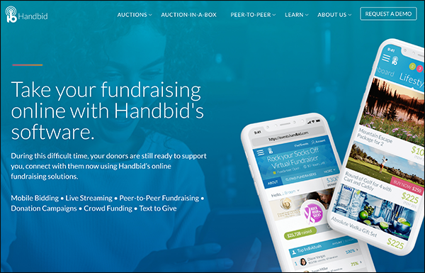 Handbid is the top fundraising software solution for virtual auctions.