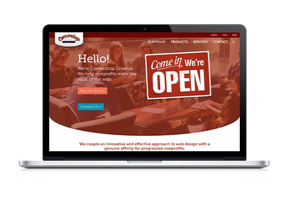 Explore Cornershop Creative's full portfolio and range of nonprofit consulting services.