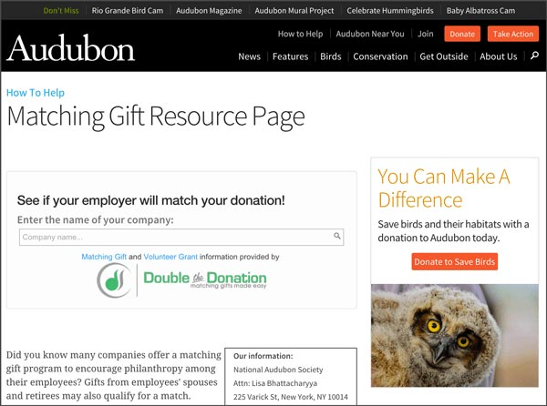 Double the Donation's online donation tools integrate right on your donation pages.