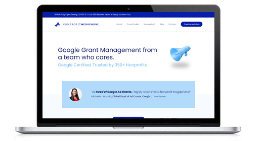Visit the Nonprofit Megaphone website for more information about their nonprofit consulting services.