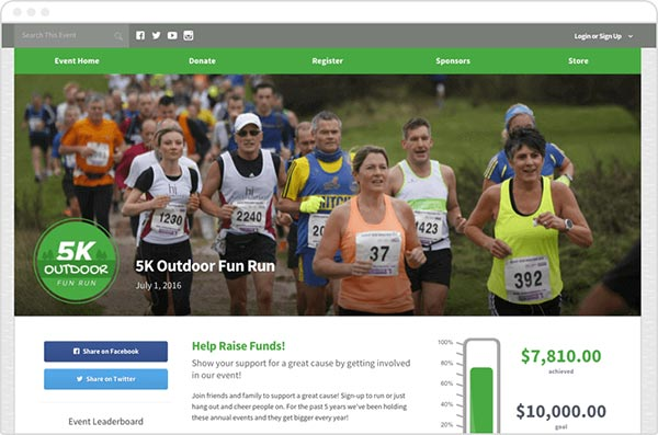 Check out a Qgiv peer-to-peer fundraising donation page.