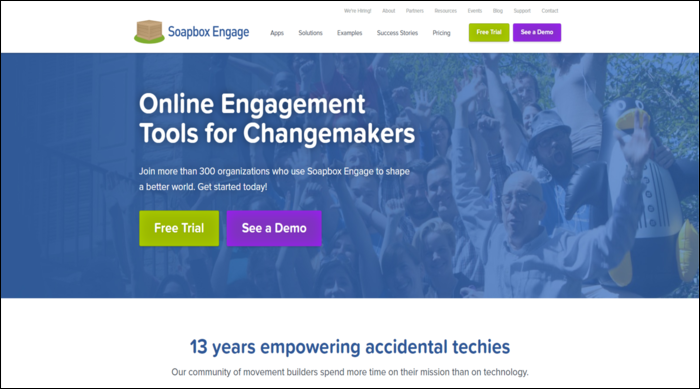 Soapbox Engage is a great fundraising software that integrates directly with Salesforce!