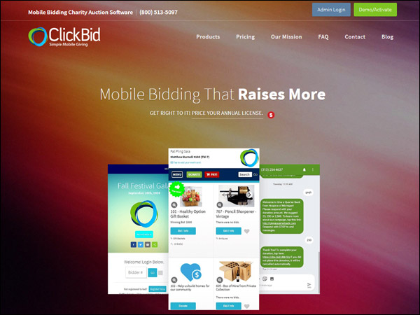 ClickBid's mobile auction fundraising software is a fantastic choice.
