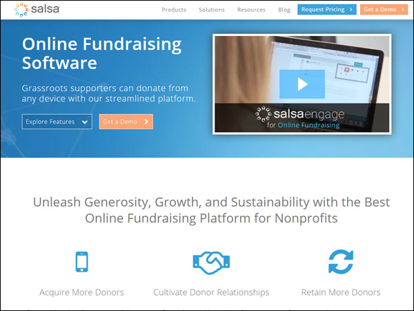 Salsa's fundraising software gives you all the data you need to run your campaign.