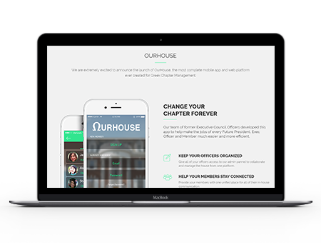 OurHouse offers chapters an excellent fraternity management solution for mass communication.