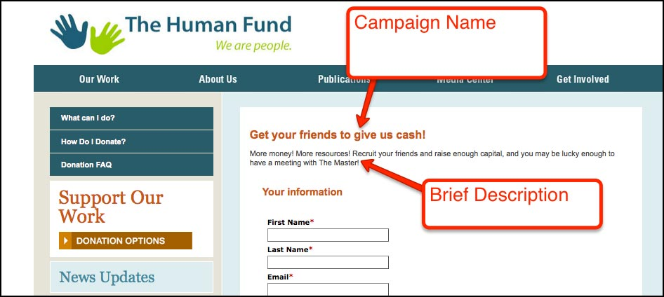 Salsa provides comprehensive peer-to-peer fundraising campaign setup.