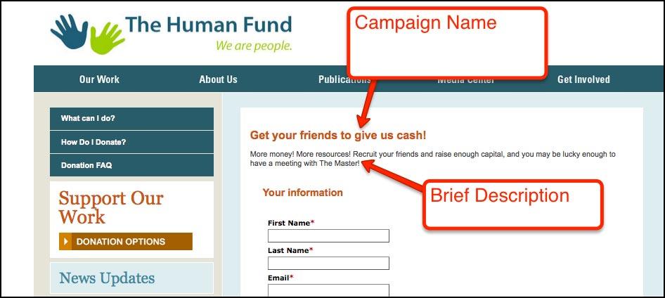 Salsa provides comprehensive peer-to-peer fundraising campaign setup.