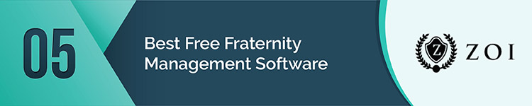 ZOI is a favorite free fraternity management app.