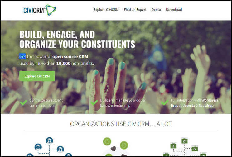 CiviCRM is an opensource CRM solution for nonprofits of all sizes.