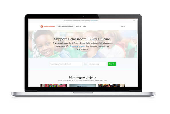 Check out DonorsChoose's crowdfunding platform!