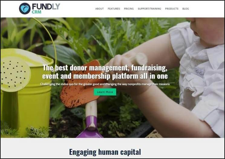 FundlyCRM is a perfect choice for a CRM solution with strong fundraising tools.