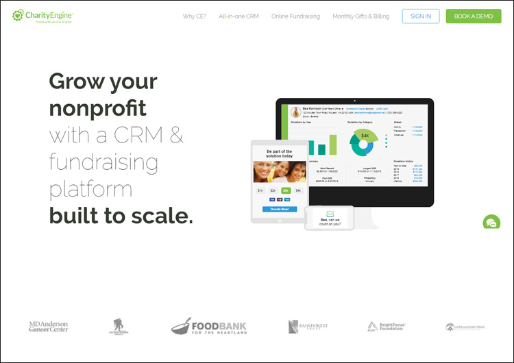 Check out CharityEngine's website to learn more about their top CRM software for nonprofits.