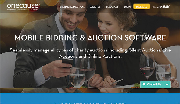 Online auction software from OneCause is a great idea for an online fundraiser.