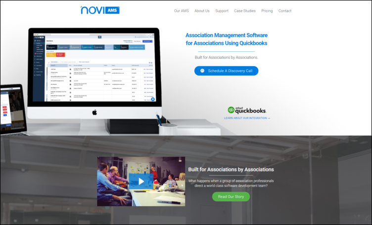Novi AMS is a great association management software solution for trade associations using QuickBooks.