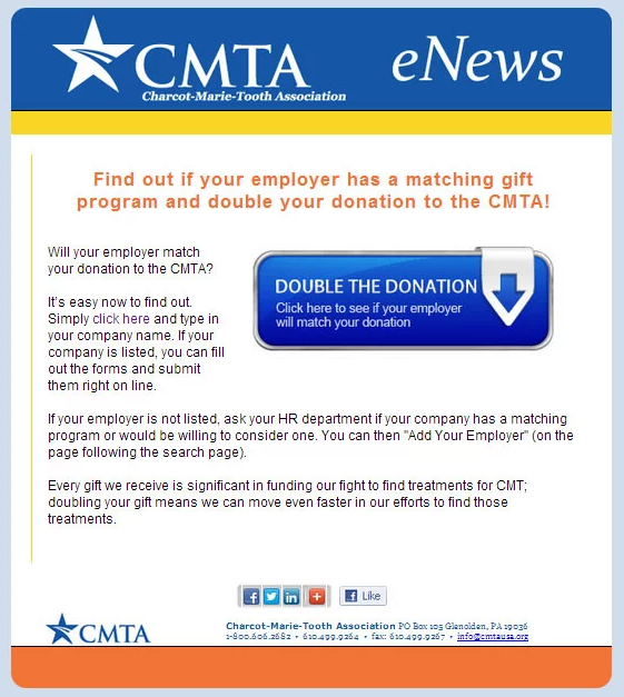 Promote matching gifts in reminder emails to donors.