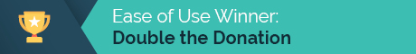 Double the Donation's matching gift database wins for ease of use.
