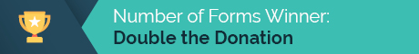 Double the Donation has the most number of forms in its matching gift database.