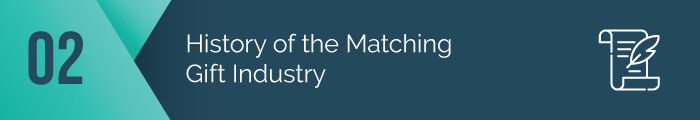 First, we considered the history of the matching gift database industry.