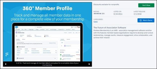 Fonteva Membership's comprehensive features makes it one of the top Salesforce apps for associations.