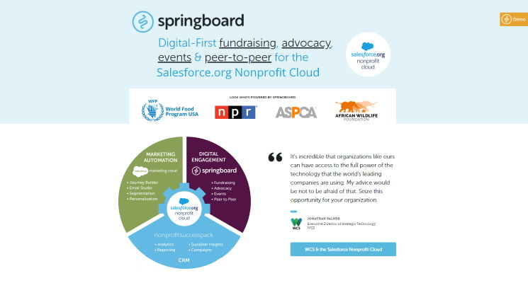 Springboard is the top Salesforce app for digital-first engagement. Demo the software to learn more.