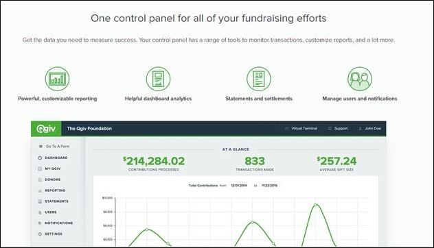Qgiv is a top Salesforce app because of its peer-to-peer fundraising tools.