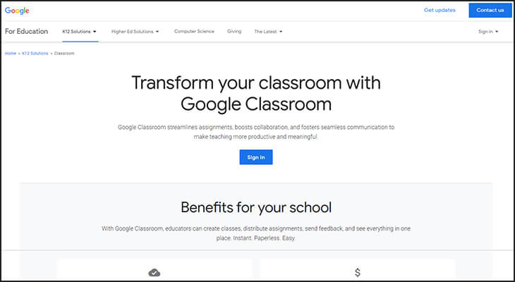Google Classroom is the best LMS software provider for K-12 schools because it's free for schools already using the G Suite.