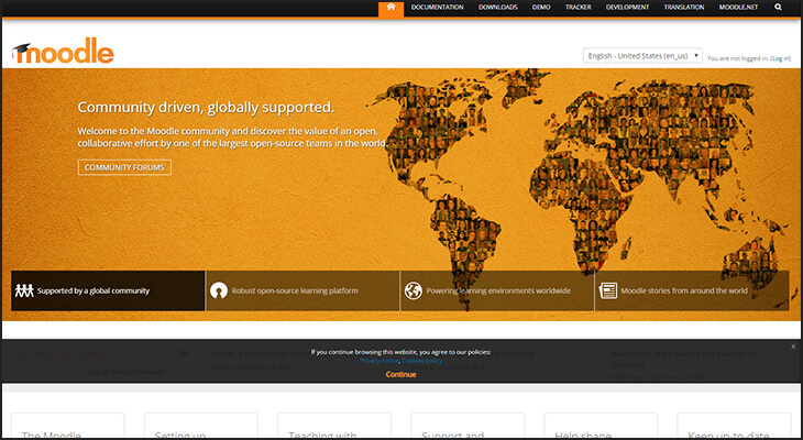 Moodle is the best LMS software provider for organizations that want an open-source software.