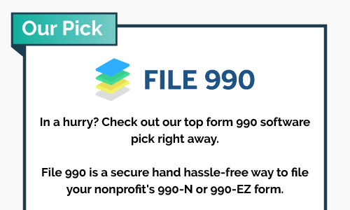 Check out our top form 990 software, File 990.