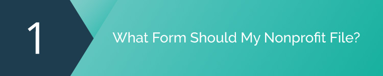 What form should my nonprofit file with form 990 software?