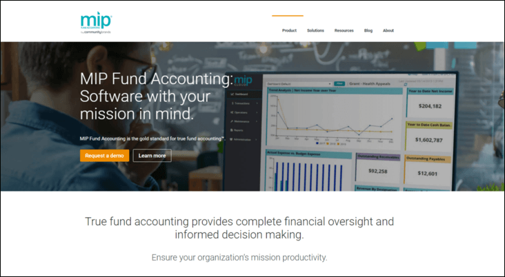 Check out MIP Fund Accounting for your next nonprofit fund accounting software solution.