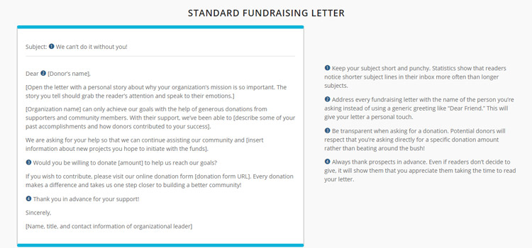 Check out these email fundraising templates!