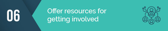 Make sure you offer resources for email fundraising!