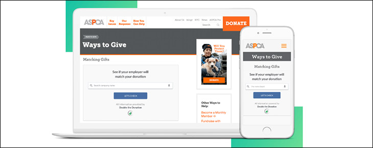 Visit Double the Donation's website for more information about this donation platform.