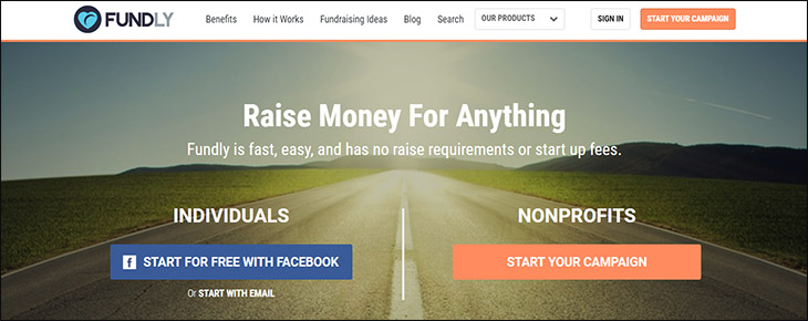 Visit Fundly's website for more information on the donation platform.