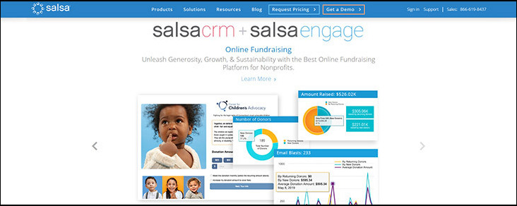 Visit Salsa's website for more information on this donation platform.