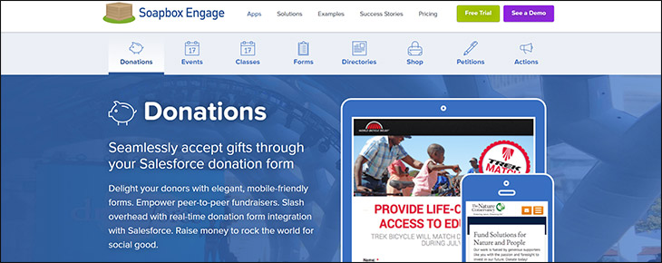 Visit Soapbox Engage's website for more information on the donation platform.