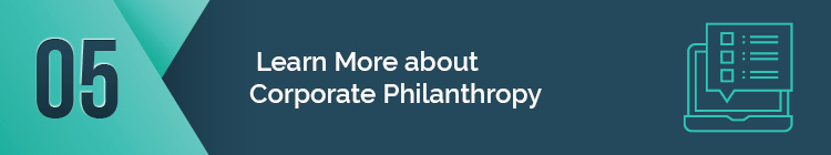 Where can I learn more about corporate philanthropy?