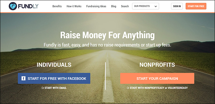 Check out Fundly, a top virtual fundraising marketing solution.