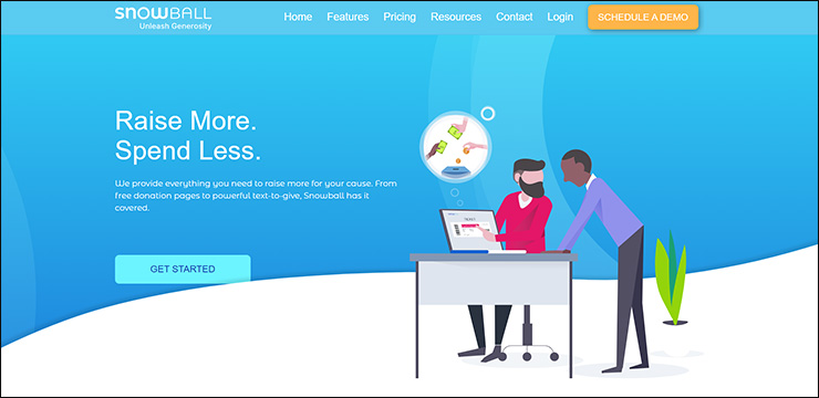 Check out Snowball, a virtual fundraising software solution for mobile giving.