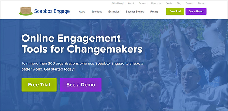 Check out this virtual fundraising solution, Soapbox Engage.