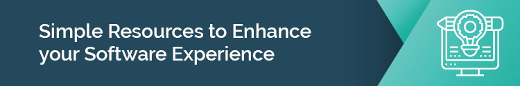 """This header states: """"Simple Resources to Enhance Your Software Experience"""""""