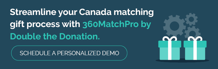 Grow your Canada matching gift revenue with 360MatchPro!