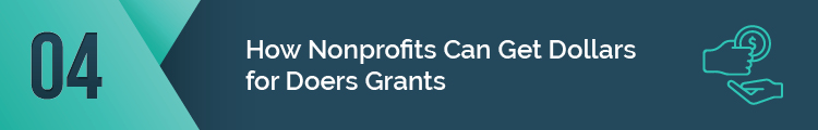 This is how nonprofits can get Dollars for Doers grants.