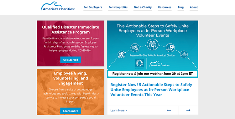 Learn more about America's Charities, one of the best corporate giving software solutions.